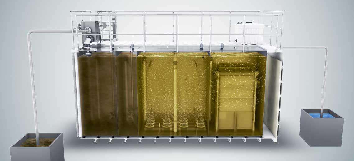 Trattamento acque reflue mbr membrane bio reactor culligan